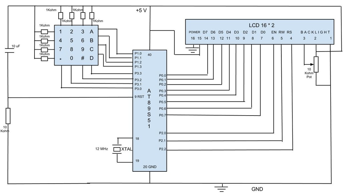 keypad talking to lcd via at89s51 chetanpatil displayport schematic